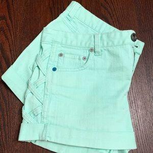 Hurley Green Jean Shorts